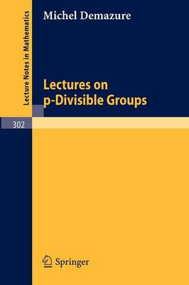 Lectures on p-Divisible Groups - Lecture Notes in Mathematics 302 (Paperback)