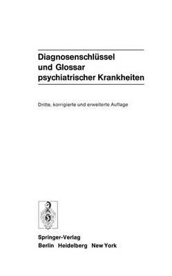 Diagnosenschlussel und Glossar Psychiatrischer Krankheiten (Paperback)