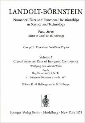Key Element: O / Schlusselelement: O - Landolt-Boernstein: Numerical Data and Functional Relationships in Science and Technology - New Series 7b1 (Hardback)