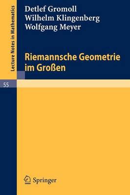 Riemannsche Geometrie Im Gro en - Lecture Notes in Mathematics 55 (Paperback)