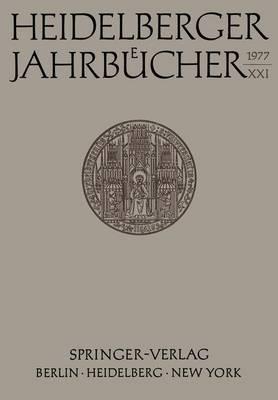Heidelberger Jahrbucher: 21 (Paperback)