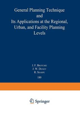 Topaz: General Planning Technique and its Applications at the Regional, Urban, and Facility Planning Levels - Lecture Notes in Economics and Mathematical Systems 180 (Paperback)
