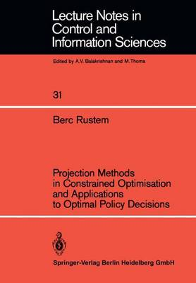 Projection Methods in Constrained Optimisation and Applications to Optimal Policy Decisions - Lecture Notes in Control and Information Sciences 31 (Paperback)