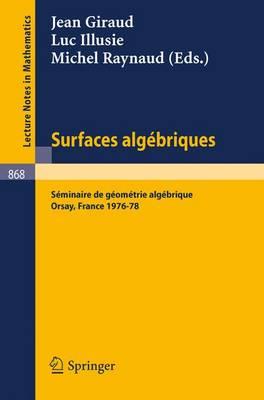 Surfaces Algebriques: Seminaire de Geometrie Algebrique D'Orsay 1976-78 - Lecture Notes in Mathematics 868 (Paperback)