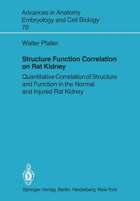 Structure Function Correlation on Rat Kidney: Quantitative Correlation of Structure and Function in the Normal and Injured Rat Kidney - Advances in Anatomy, Embryology and Cell Biology 70 (Paperback)