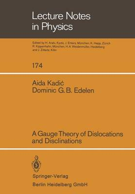 A Gauge Theory of Dislocations and Disclinations - Lecture Notes in Physics 174 (Paperback)