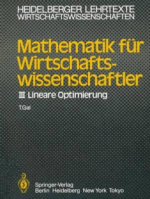 Mathematik fur Wirtschaftswissenschaftler - Heidelberger Lehrtexte Wirtschaftswissenschaften (Paperback)