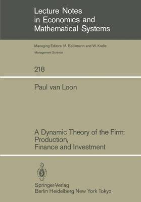 A Dynamic Theory of the Firm: Production, Finance and Investment - Lecture Notes in Economics and Mathematical Systems 218 (Paperback)
