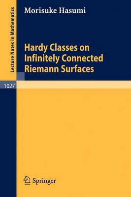 Hardy Classes on Infinitely Connected Riemann Surfaces - Lecture Notes in Mathematics 1027 (Paperback)
