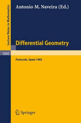 Differential Geometry: Proceedings of the International Symposium Held at Peniscola, Spain, October 3-10, 1982 - Lecture Notes in Mathematics v. 1045 (Paperback)