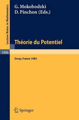 Theorie Du Potentiel (Paperback)