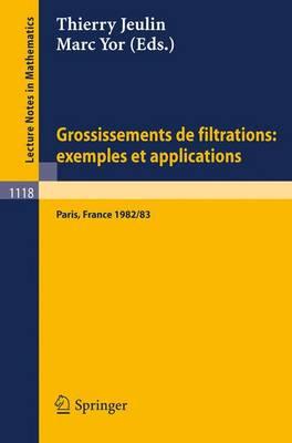 Grossissements de Filtrations: Exemples Et Applications: Seminaire de Calcul Stochastique 1982/83 Universite Paris VI - Lecture Notes in Mathematics 1118 (Paperback)