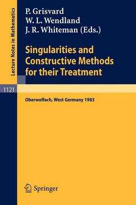 Singularities and Constructive Methods for Their Treatment: Proceedings of the Conference held in Oberwolfach, West Germany, November 20-26, 1983 - Lecture Notes in Mathematics 1121 (Paperback)