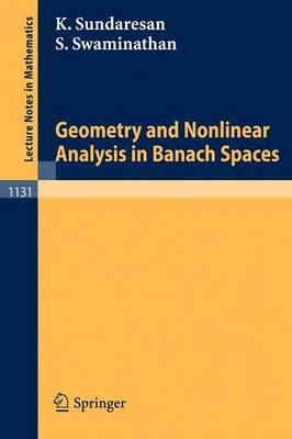 Geometry and Nonlinear Analysis in Banach Spaces - Lecture Notes in Mathematics 1131 (Paperback)