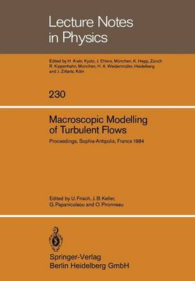 Macroscopic Modelling of Turbulent Flows: Proceedings of a Workshop held at INRIA, Sophia-Antipolis, France, December 10-14, 1984 - Lecture Notes in Physics 230 (Paperback)