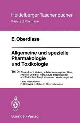 Allgemeine und Spezielle Pharmakologie und Toxikologie - Heidelberger Taschenbucher 243 (Paperback)