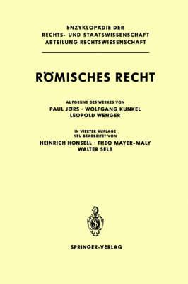 Romisches Recht ( 4th Ed ) (Hardback)