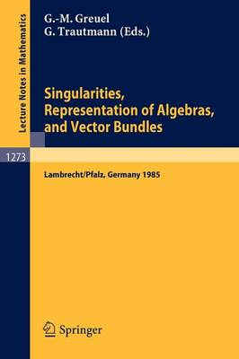 Singularities, Representation of Algebras, and Vector Bundles: Proceedings of a Symposium held in Lambrecht/Pfalz, Fed.Rep. of Germany, Dec. 13-17, 1985 - Lecture Notes in Mathematics 1273 (Paperback)