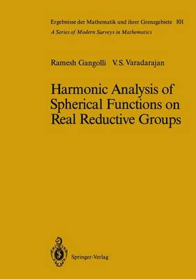 Harmonic Analysis of Spherical Functions on Real Reductive Groups (Hardback)