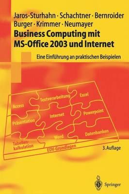 Business Computing Mit Ms-Office 2003 Und Internet: Eine Einf hrung an Praktischen Beispielen - Springer-Lehrbuch (Hardback)