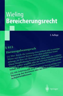 Bereicherungsrecht - Springer-Lehrbuch (Paperback)
