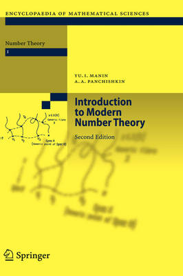 Introduction to Modern Number Theory: Fundamental Problems, Ideas and Theories - Encyclopaedia of Mathematical Sciences 49 (Hardback)