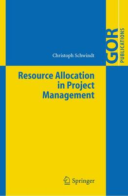 Resource Allocation in Project Management - GOR-Publications (Hardback)