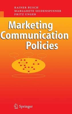 Marketing Communication Policies (Hardback)