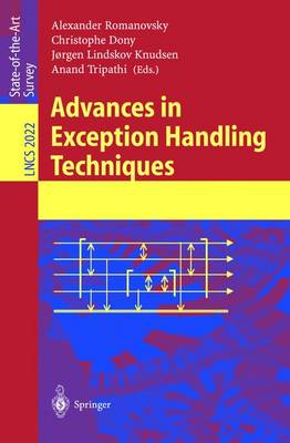 Advances in Exception Handling Techniques - Lecture Notes in Computer Science 2022 (Paperback)