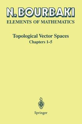 Topological Vector Spaces: Chapters 1-5 (Paperback)
