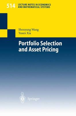 Portfolio Selection and Asset Pricing - Lecture Notes in Economics and Mathematical Systems 514 (Paperback)