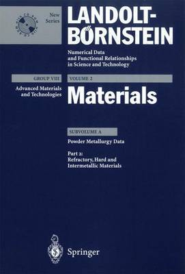 Refractory, Hard and Intermetallic Materials - Advanced Materials and Technologies 2A2