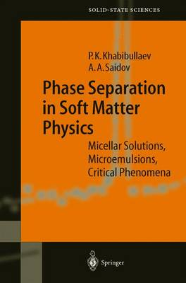Phase Separation in Soft Matter Physics: Micellar Solutions, Microemulsions, Critical Phenomena - Springer Series in Solid-State Sciences 138 (Hardback)