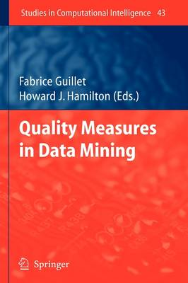 Quality Measures in Data Mining - Studies in Computational Intelligence 43 (Hardback)