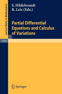 Partial Differential Equations and Calculus of Variations - Lecture Notes in Mathematics 1357 (Paperback)