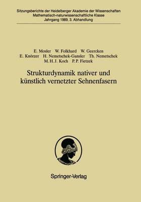 Strukturdynamik Nativer und Kunstlich Vernetzter Sehnenfasern - Sitzungsberichte der Heidelberger Akademie der Wissenschaften / Sitzungsber.Heidelberg 89 1989 / 3 (Paperback)