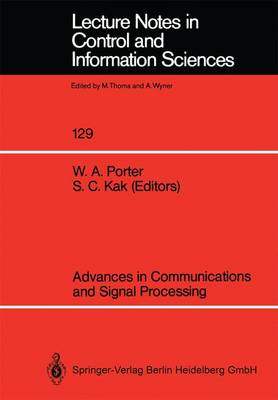 Advances in Communications and Signal Processing - Lecture Notes in Control and Information Sciences 129 (Paperback)