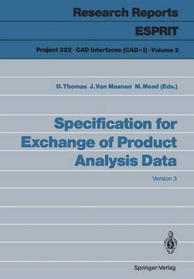 Specification for Exchange of Product Analysis Data: Version 3 - Research Reports Esprit 2 (Paperback)