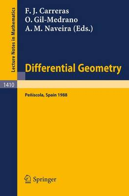 Differential Geometry: 3rd, 1989: International Symposium Proceedings - Lecture Notes in Mathematics No. 1410 (Paperback)