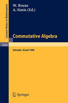 Commutative Algebra: Proceedings of a Workshop held in Salvador, Brazil, Aug. 8-17, 1988 - Lecture Notes in Mathematics 1430 (Paperback)