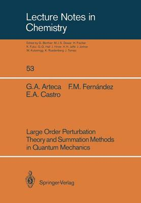 Large Order Perturbation Theory and Summation Methods in Quantum Mechanics - Lecture Notes in Chemistry 53 (Paperback)