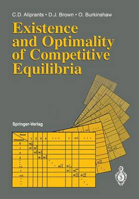 Existence and Optimality of Competitive Equilibria (Paperback)