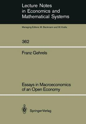 Essays in Macroeconomics of an Open Economy - Lecture Notes in Economics and Mathematical Systems 362 (Paperback)