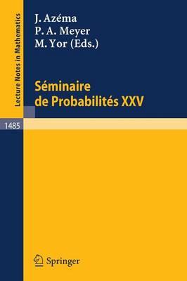 Seminaire De Probabilites Xxv (Paperback)