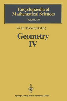 Geometry IV: Non-regular Riemannian Geometry - Encyclopaedia of Mathematical Sciences 70 (Hardback)