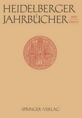 Heidelberger Jahrbucher: 36 (Paperback)