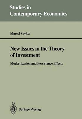 New Issues in the Theory of Investment: Modernization and Persistence Effects - Studies in Contemporary Economics (Paperback)