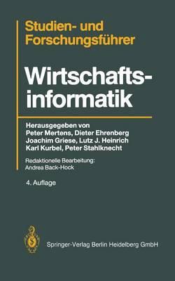 Studien-- Und Forschungsf hrer: Wirtschaftsinformatik (Hardback)