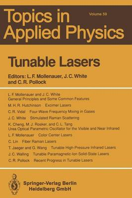 Tunable Lasers - Topics in Applied Physics 59 (Paperback)