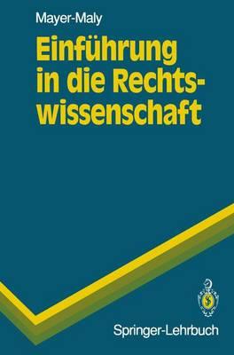 Einfuhrung in die Rechtswissenschaft - Springer-Lehrbuch (Paperback)
